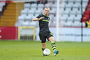 Forest Green Rovers Joseph Mills(23) on the ball during the EFL Sky Bet League 2 match between Stevenage and Forest Green Rovers at the Lamex Stadium, Stevenage, England on 26 December 2019.