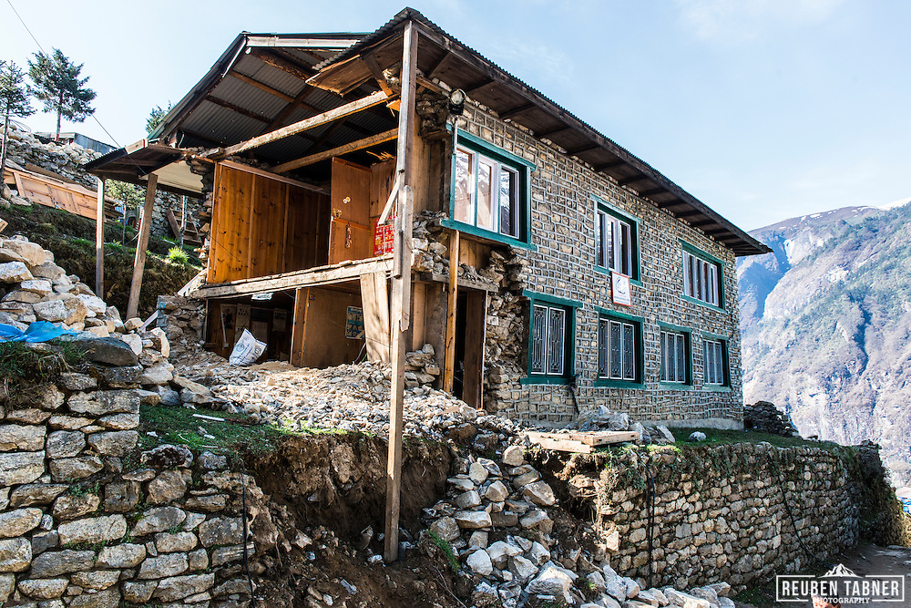 The Dental Clinic received major damage during the eathquake which hit the town of Namche Bazaar at 3,440 metres in the Solukhumbu District of the Sagarmatha Zone of north-eastern Nepal.