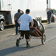 Lets go Racing:<br /> Running for new rubber<br /> final touches in the pits<br /> <br />  Wall Stadium Speedway, Wall, NJ