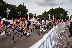 Esther van Veen (NED) of Parkhotel Valkenburg Cycling Team leans into a corner during the Prudential RideLondon Classique, a 68 km road race starting and finishing in London, United Kingdom on August 3, 2019. Photo by Balint Hamvas/velofocus.com