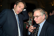 JASON COWLEY AND PETER WILBY. party to celebrate the 100th issue of Granta magazine ( guest edited by William Boyd.) hosted by Sigrid Rausing and Eric Abraham. Twentieth Century Theatre. Westbourne Gro. London.W11  15 January 2008. -DO NOT ARCHIVE-© Copyright Photograph by Dafydd Jones. 248 Clapham Rd. London SW9 0PZ. Tel 0207 820 0771. www.dafjones.com.