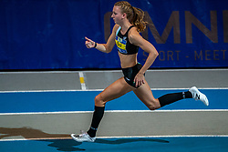 Femke Bol second on the 400 meters during the Dutch Indoor Athletics Championship on February 23, 2020 in Omnisport De Voorwaarts, Apeldoorn