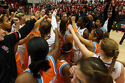 Dec 20, 2011; Stanford CA, USA;  The Stanford Cardinal and Tennessee Lady Volunteers meet at mid court after the game at Maples Pavilion.  Stanford defeated Tennessee 97-80. Mandatory Credit: Jason O. Watson-US PRESSWIRE