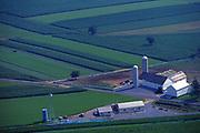 Aerial, Amish farm, Lancaster Co., PA