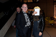 PETER COOK; FROSSO PIMENIDES, Ron Arad; Restless. Cocktail reception hosted by Kate Bush of the Barbican and Tony Chambers of Wallpaper magazine. Barbican art Gallery. London. 17 September 2010