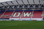 The DW Stadium during the Sky Bet League 1 match between Wigan Athletic and Blackpool at the DW Stadium, Wigan, England on 12 December 2015. Photo by Pete Burns.