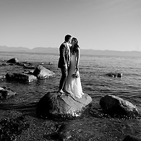 Travis and Amy's Salish Sea portrait session at their Vancouver Island wedding.