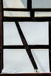 Detail of old timbered house in Bouxwiller, Alsace, France<br /> <br /> (c) Andrew Wilson   Edinburgh Elite media