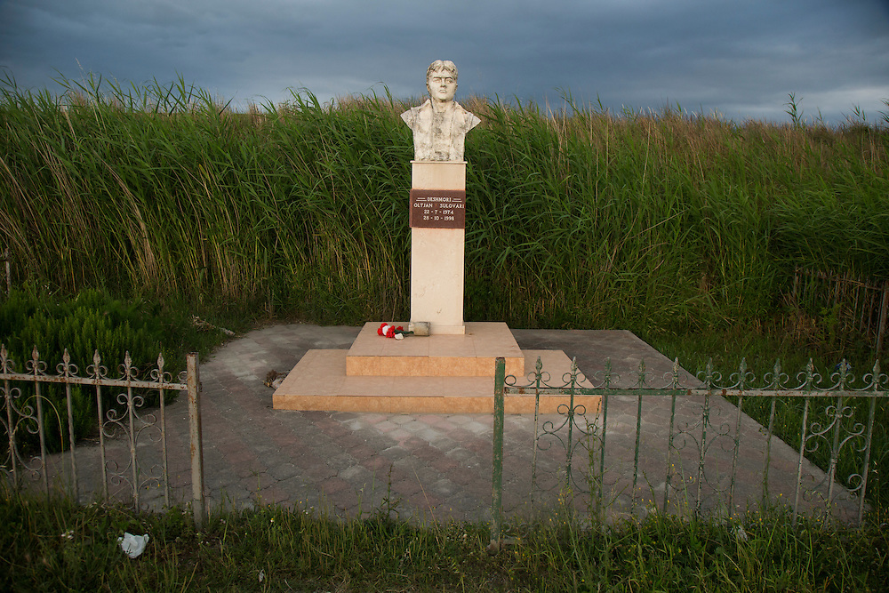 A memorial in the delta of the Vjosa River, where it flows into Adriatic Sea. The area is rich farmland, fed with minerals and sediment from the free flowing Vjosa River.