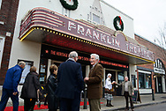 Franklin Mayor Ken Moore chats with Rob Shaffer, right, as The Heritage Foundation celebrates it's 50th anniversary with a special event at the Franklin Theater in Franklin, Tenn. on Nov. 12, 2017.