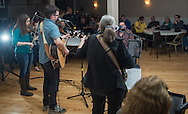 The River Drivers, a band from Bristol, pack the house for their CD release party at Ancient Order of the Hibernian in Bristol, Pa, Saturday, April 4, 2015. Photo by Bryan Woolston.