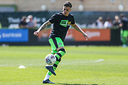 Forest Green Rovers Charlie Cooper(15) warming up during the EFL Sky Bet League 2 match between Forest Green Rovers and Grimsby Town FC at the New Lawn, Forest Green, United Kingdom on 5 May 2018. Picture by Shane Healey.