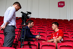 New Bristol City signing Josh Brownhill takes part in an interview- Mandatory by-line: Robbie Stephenson/JMP - 31/05/2016 - FOOTBALL - Ashton Gate - Bristol, England - Bristol City New Signing - Josh Brownhill