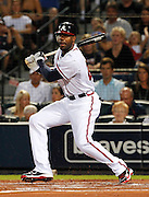 ATLANTA - AUGUST 13:  Outfielder Jason Heyward #22 of the Atlanta Braves follows through on a swing during the game against the Los Angeles Dodgers at Turner Field on August 13, 2010 in Atlanta, Georgia.  The Braves beat the Dodgers 1-0.  (Photo by Mike Zarrilli/Getty Images)