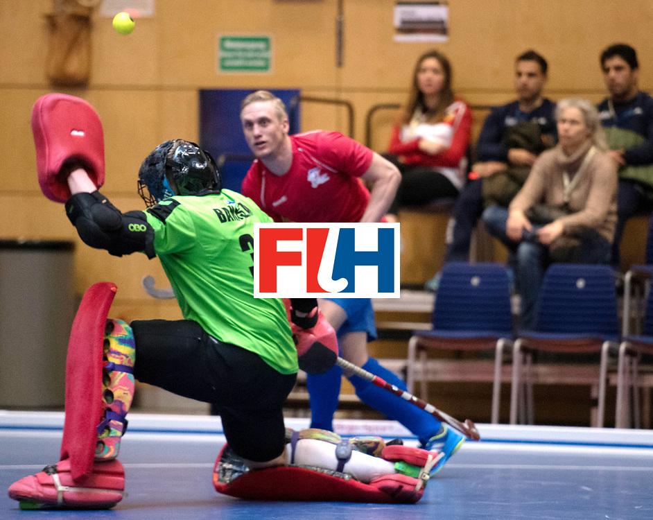 BERLIN - Indoor Hockey World Cup<br /> Czech Republic - Poland<br /> foto: Rafal Banaszak (GK)  <br /> WORLDSPORTPICS COPYRIGHT FRANK UIJLENBROEK