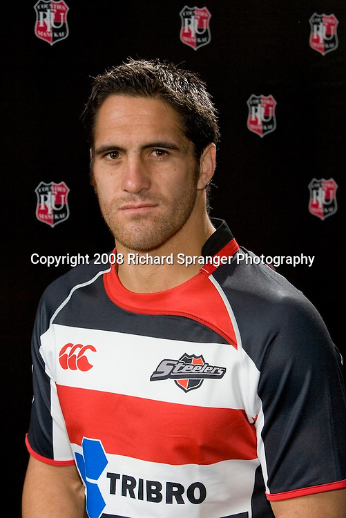 Chad Tuoro. Counties-Manukau Steelers ANZ Cup Rugby headshots 2008. Photo: Richard Spranger Photography/PHOTOSPORT