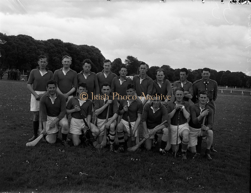 18/06/1958<br /> 06/18/1958<br /> 18 June 1958<br /> All Army Semi-Final: Eastern Command v Southern Command at Phoenix Park, Dublin. Eastern Command team.