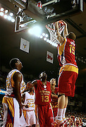 Oklahoma recruit Blake Griffin goes up for a dunk during action in the McDonald's All American High School Basketball Team games at Freedom Hall in Louisville, Kentucky on March 28, 2007.