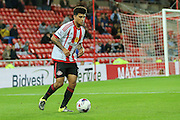 Sunderland defender, on loan from Tottenham Hotspur, DeAndre Yedlin during the Capital One Cup match between Sunderland and Manchester City at the Stadium Of Light, Sunderland, England on 22 September 2015. Photo by Simon Davies.