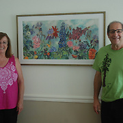 38 x 19 print plus mat and frame. Much enjoyment by Kim and Larry!