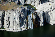 "Shoshone Falls is known at the ""Niagara of the West"".  In the summer, water levels are significantly depleted due to withdrawals from the Snake River for irrigation."