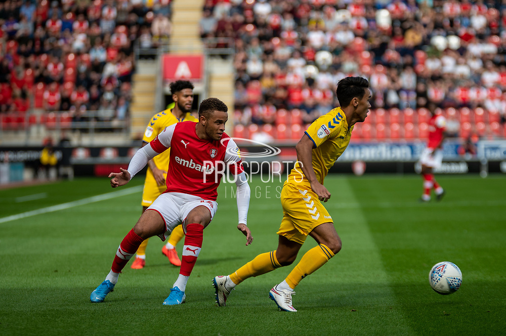 Carlton Morris of Rotherham United during the EFL Sky Bet League 1 match between Rotherham United and Bolton Wanderers at the AESSEAL New York Stadium, Rotherham, England on 14 September 2019.