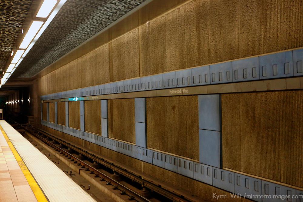 USA, California, Los Angeles. Los Angeles Metro pubic transportation.