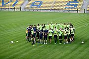 SWIDNIK, POLEN 2017-06-12<br /> Laget samlas under U21 landslagets tr&auml;ning p&aring; Stadion Miejski den 12 juni 2017.<br /> Foto: Nils Petter Nilsson/Ombrello<br /> Fri anv&auml;ndning f&ouml;r kunder som k&ouml;pt U21-paketet.<br /> Annars Betalbild.<br /> ***BETALBILD***
