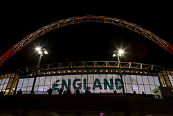 Wembley Stadium lit up with England ahead of tonight friendly, England v Germany - Mandatory by-line: Jason Brown/JMP - 10/11/2017 - FOOTBALL - Wembley Stadium - London, England - England v Germany - International Friendly