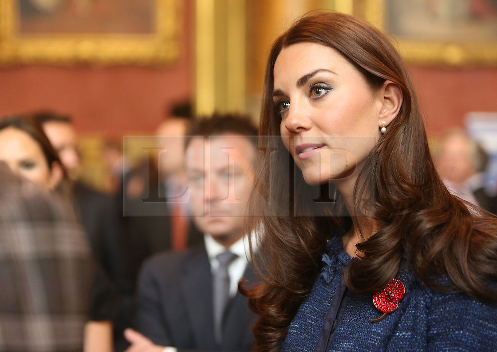 © Licensed to London News Pictures. 26/04/2012.  The Duke and Duchess of Cambridge met with members of the team from the Scott-Amundsen Centenary Expedition in the Guildhall today. ..The 900 mile route across the South Pole was led by Lt Col Henry Worsley MBE and re created the original expedition that Shackleton set out on 100 years ago.   ..The event was also attended by double amputee, Sapper Clive Smith who was injured by an IED in Helmand in 2010.   He is currently going through a rehabilitation program at the Royal British Legions Battle Back facility... Photo credit: Alison Baskerville/LNP