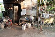 Een huis net buiten Phnom Penh