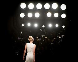 © Licensed to London News Pictures. 15/09/2012. London, UK.  Issa London catwalk show by designer Daniella Helayel  at London Fashion Week Spring/Summer 2013 on September 15, 2012. Photo credit : Ben Cawthra/LNP