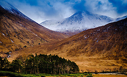 Snow capped mountain in Glen Etive, Highlands of Scotland<br /> <br /> (c) Andrew Wilson | Edinburgh Elite media