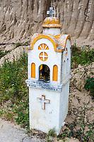 Olympia, Greece. A roadside shrine close to the ruins.