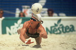 AVP/WPVA Professional Beach Volleyball/Womans Professional Volleyball - Belmar, NJ - 1994 - Angela Rock -  Photo by Wally Nell/Volleyball Magazine