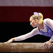 MyKayla Skinner, Gilbert, Arizona, on the Balance Beam during the Senior Women Competition at The 2013 P&G Gymnastics Championships, USA Gymnastics' National Championships at the XL, Centre, Hartford, Connecticut, USA. 15th August 2013. Photo Tim Clayton