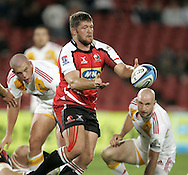 JOHANNESBURG, SOUTH AFRICA - 23 April 2011: JC Janse van Rensburg of the Lions during the Super Rugby Match between the MTN Lions and the Chiefs held at Coca Cola Park Stadium, Johannesburg, South Africa. Photo by Dominic Barnardt