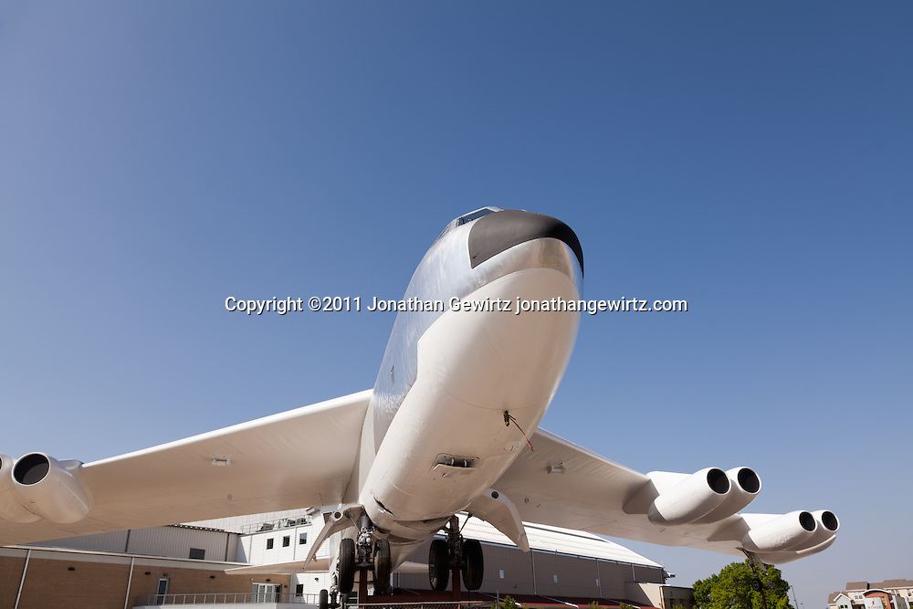 A Boeing B-52B Stratofortress bomber on static display at Wings Over the Rockies Air & Space Museum on the site of the former Lowry Air Force Base in Denver, Colorado. WATERMARKS WILL NOT APPEAR ON PRINTS OR LICENSED IMAGES.