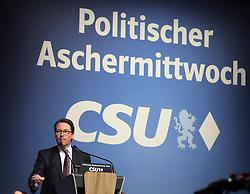 06.03.2019, Dreiländerhalle, Passau, GER, Politischer Aschermittwoch der CSU, im Bild Andreas Scheuer spricht // during the Political Ash Wednesday of the CSU Party at the Dreiländerhalle in Passau, Germany on 2019/03/06. EXPA Pictures © 2019, PhotoCredit: EXPA/ SM<br /> <br /> *****ATTENTION - OUT of GER*****