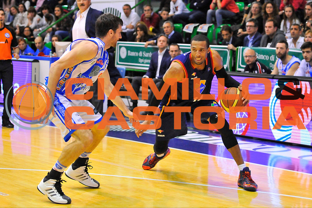 DESCRIZIONE : Campionato 2013/14 Dinamo Banco di Sardegna Sassari - Acea Virtus Roma<br /> GIOCATORE : Quinton Hosley<br /> CATEGORIA : Palleggio Tecnica<br /> SQUADRA : Acea Virtus Roma<br /> EVENTO : LegaBasket Serie A Beko 2013/2014<br /> GARA : Dinamo Banco di Sardegna Sassari - Acea Virtus Roma<br /> DATA : 19/04/2014<br /> SPORT : Pallacanestro <br /> AUTORE : Agenzia Ciamillo-Castoria / Luigi Canu<br /> Galleria : LegaBasket Serie A Beko 2013/2014<br /> Fotonotizia : Campionato 2013/14 Dinamo Banco di Sardegna Sassari - Acea Virtus Roma<br /> Predefinita :