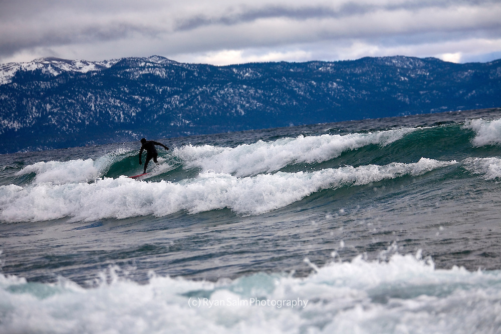 Winter surfing on Tahoe- Scott Gaffney