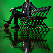 UVU Basketball Coach Mark Pope promo photos at the UCCU Center on the campus of Utah Valley University in Orem, Utah, Monday, Nov. 2, 2015. (August Miller, UVU Marketing)