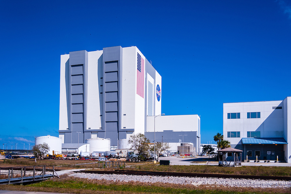 US, Florida. John F. Kennedy Space Center. Vehicle Assembly Building.
