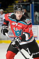 KELOWNA, CANADA, NOVEMBER 9: Carter Rigby #11 of the Kelowna Rockets skates on the ice as the Red Deer Rebels visit the Kelowna Rockets  on November 9, 2011 at Prospera Place in Kelowna, British Columbia, Canada (Photo by Marissa Baecker/Shoot the Breeze) *** Local Caption ***