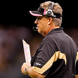 October 3, 2010; New Orleans, LA, USA; New Orleans Saints defensive coordinator Gregg Williams on the sideline during the second half against the Carolina Panthers at the Louisiana Superdome. The Saints defeated the Panthers 16-14. Mandatory Credit: Derick E. Hingle