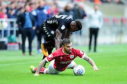 Marlon Pack of Bristol City is challenged by Ronaldo Vieira of Leeds United - Mandatory by-line: Dougie Allward/JMP - 21/10/2017 - FOOTBALL - Ashton Gate Stadium - Bristol, England - Bristol City v Leeds United - Sky Bet Championship