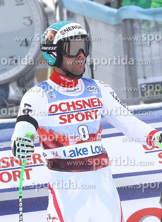 25.11.2017, Lake Louise, CAN, FIS Weltcup Ski Alpin, Lake Louise, Abfahrt, Herren, im Bild Vincent Kriechmayr (AUT) // Vincent Kriechmayr of Austria reacts after his run of men's downhill of FIS Ski Alpine World Cup IN Lake Louise, Canada on 2017/11/25. EXPA Pictures &copy; 2017, PhotoCredit: EXPA/ Sammy Minkoff<br /> <br /> *****ATTENTION - OUT of GER*****