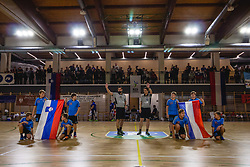 Referees and flab boys befor friendly handball match between Slovenia and Nederland, on October 25, 2019 in Športna dvorana Hardek, Ormož, Slovenia. Photo by Blaž Weindorfer / Sportida