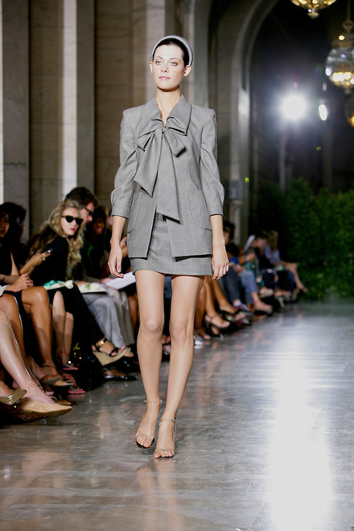 Young Designer Chocheng was showing his Spring/Summer 2009 collection during the New York Fashion Week 2008 in New York Public Library.