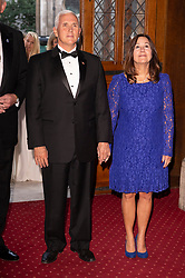 © Licensed to London News Pictures. 05/09/2019. London, UK. US Vice President Mike Pence and wife Karen Pence attend the International Trade Dinner at Guildhall. Photo credit: Ray Tang/LNP